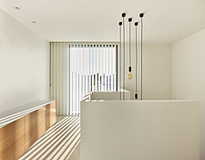 New build modern white living room with vertical blinds and shadows - 16861-160R