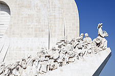 Prince Henry the Navigator leading the Monument to the Discoveries in Belem, Lisbon - 16956-40