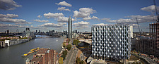 View looking east, US Embassy, Nine Elms, London - ARC100972