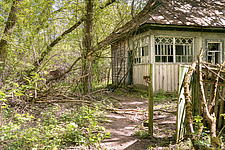 Exterior of small building, Chernobyl, Ukraine - ARC101586