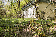 Exterior of small house, Chernobyl, Ukraine - ARC101587