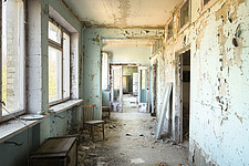 inside of the abandoned hospital 126 in Chernobyl - ARC101597