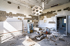 inside of the abandoned hospital 126 in Chernobyl - ARC101598