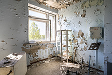 inside of the abandoned hospital 126 in Chernobyl - ARC101599