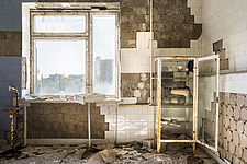 inside of the abandoned hospital 126 in Chernobyl - ARC101600