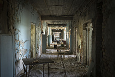 inside of the abandoned hospital 126 in Chernobyl - ARC101601