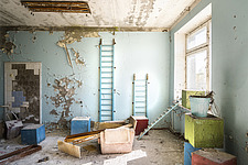 inside of the abandoned hospital 126 in Chernobyl - ARC101603