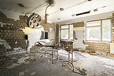 inside of the abandoned hospital 126 in Chernobyl - ARC101604
