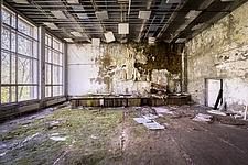 inside of the abandoned hospital 126 in Chernobyl - ARC101606