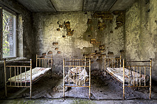 inside of the abandoned hospital 126 in Chernobyl - ARC101608