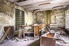 inside of the abandoned hospital 126 in Chernobyl - ARC101609