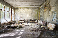 inside of the abandoned hospital 126 in Chernobyl - ARC101610