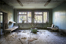 inside of the abandoned hospital 126 in Chernobyl - ARC101611