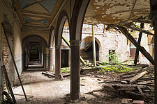 a hallway in an abandoned castle in Germany - ARC101292