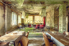 a room in an abandoned hotel in Germany - ARC101313
