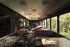 a restaurant in an abandoned train in Italy - ARC101329