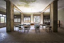 an abandoned classroom in a school in Switzerland - ARC101445