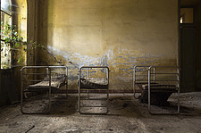the bedroom in an abandoned hospital in Italy - ARC101497