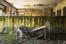 the bedroom in an abandoned hospital in Italy - ARC101509