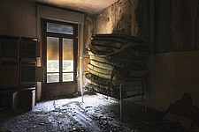 a room where matresses are stored in an abandoned hospital in Italy - ARC101510