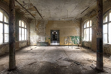 inside of the medical complex in Beelitz, Germany - ARC101524
