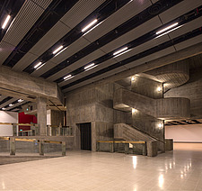 The new interior of the Hayward Gallery, a world-renowned contemporary art gallery and landmark of Brutalist architecture on London's South Bank - ARC102069