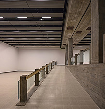 The new interior of the Hayward Gallery, a world-renowned contemporary art gallery and landmark of Brutalist architecture on London's South Bank - ARC102078