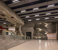 The new interior of the Hayward Gallery, a world-renowned contemporary art gallery and landmark of Brutalist architecture on London's South Bank - ARC102079