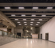The new interior of the Hayward Gallery, a world-renowned contemporary art gallery and landmark of Brutalist architecture on London's South Bank - ARC102080