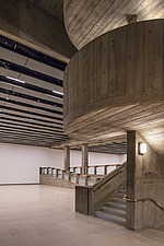 The new interior of the Hayward Gallery, a world-renowned contemporary art gallery and landmark of Brutalist architecture on London's South Bank - ARC102083