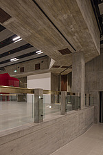The new interior of the Hayward Gallery, a world-renowned contemporary art gallery and landmark of Brutalist architecture on London's South Bank - ARC102087