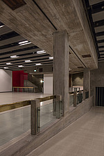 The new interior of the Hayward Gallery, a world-renowned contemporary art gallery and landmark of Brutalist architecture on London's South Bank - ARC102088