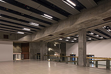 The new interior of the Hayward Gallery, a world-renowned contemporary art gallery and landmark of Brutalist architecture on London's South Bank - ARC102091