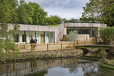 Exterior of Ashbrook House, a contemporary family eco-house in Blewbury, South Oxfordshire, UK - ARC102965