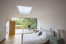 A bedromm  in Ashbrook House, a contemporary family eco-house in Blewbury, South Oxfordshire, UK - ARC103001