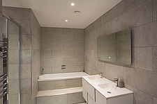 Bathroom  in Ashbrook House, a contemporary family eco-house in Blewbury, South Oxfordshire, UK - ARC103002