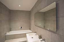 Bathroom  in Ashbrook House, a contemporary family eco-house in Blewbury, South Oxfordshire, UK - ARC103003