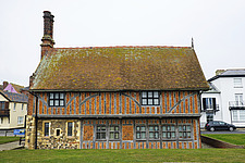 Exterior of Historical Moot Hall, Aldeburgh, Suffolk, UK - ARC103415