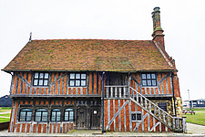 Exterior of Historical Moot Hall, Aldeburgh, Suffolk, UK - ARC103418