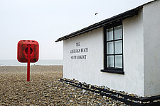 Exterior of the South Lookout, Aldeburgh Beach, Aldeburgh, Suffolk, UK - ARC103439