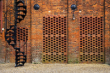 Exterior of malting buildings, renovated Victorian malting buildings, Snape Maltings, Snape, Suffolk, UK  - ARC103469