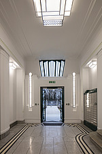 Lobby in the iconic art deco Hoover Building in London, UK which has been converted into apartments by Interrobang Architects and Webb Yates Engineers - ARC103582