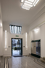 Lobby in the iconic art deco Hoover Building in London, UK which has been converted into apartments by Interrobang Architects and Webb Yates Engineers - ARC103583