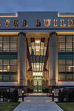 Exterior of the iconic art deco Hoover Building in London, UK which has been converted into apartments by Interrobang Architects and Webb Yates Engine... - ARC103587