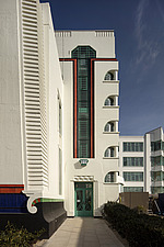 Exterior of the iconic art deco Hoover Building in London, UK which has been converted into apartments by Interrobang Architects and Webb Yates Struct... - ARC103537