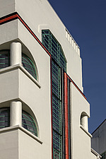 Exterior of the iconic art deco Hoover Building in London, UK which has been converted into apartments by Interrobang Architects and Webb Yates Engine... - ARC103540