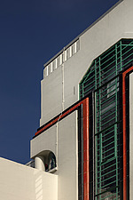 Exterior of the iconic art deco Hoover Building in London, UK which has been converted into apartments by Interrobang Architects and Webb Yates Engine... - ARC103541