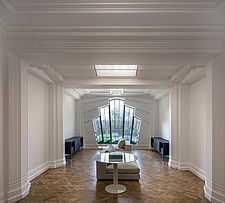 Communal area in the iconic art deco Hoover Building in London, UK which has been converted into apartments by Interrobang Architects and Webb Yates E... - ARC103544