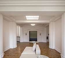 Communal area in the iconic art deco Hoover Building in London, UK which has been converted into apartments by Interrobang Architects and Webb Yates E... - ARC103548