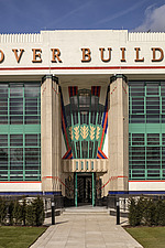 Exterior of the iconic art deco Hoover Building in London, UK which has been converted into apartments by Interrobang Architects and Webb Yates Engine... - ARC103559